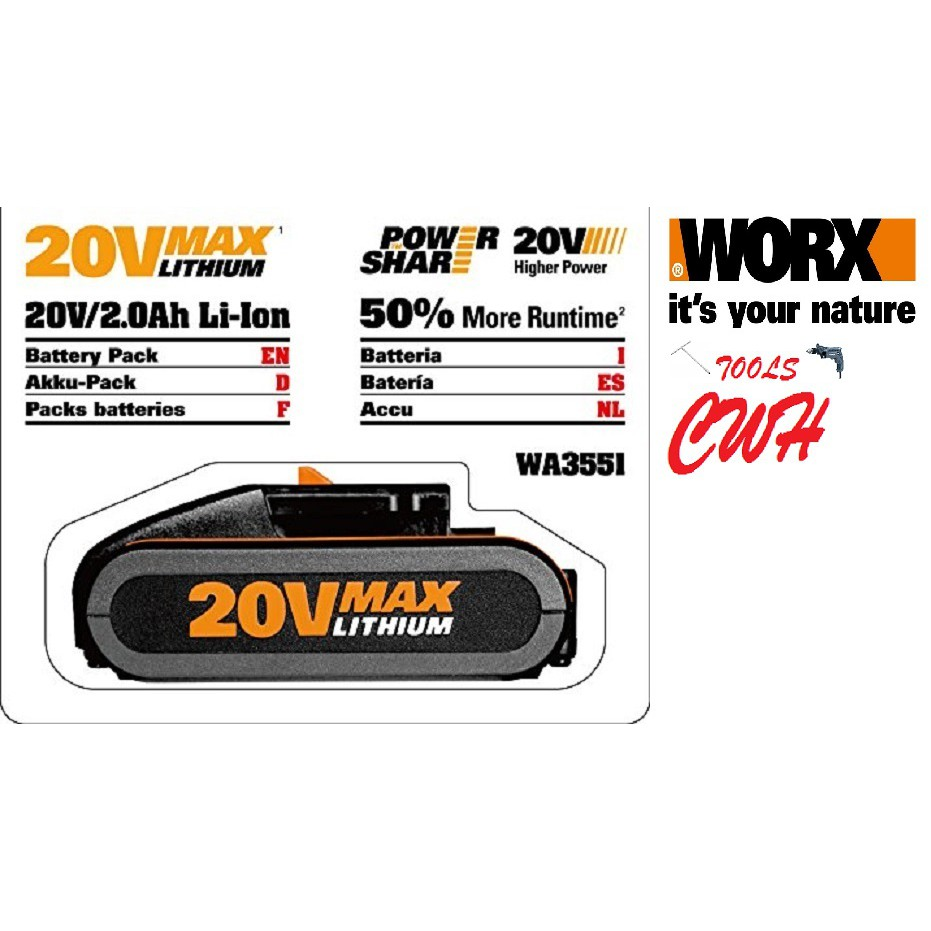 WORX WA3760 20V LI-ON BATTERY CHARGER WA3551.1 WG629E.1 WG894E WX550 WX176 WG169 WG629E.3 WG322E  WG259E WG329E.5 WG801E