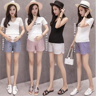 cd85c48549db8 Pregnant Women Summer Fashion New Bright Shiny High Waist Stomach Lift  Shorts
