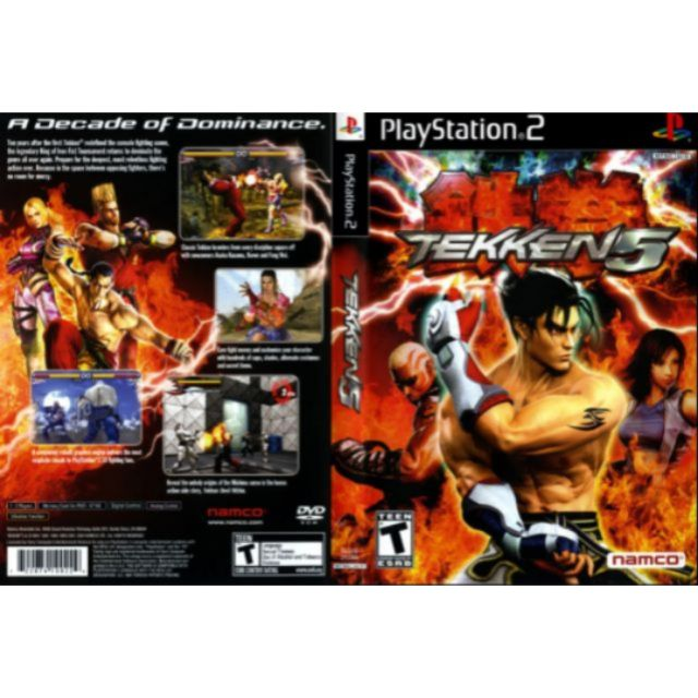 Ps2 Game Collection Tekken 5 Shopee Malaysia