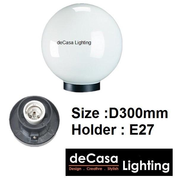 D300mm outdoor Globe Light Gate Light Decasa Lighting Outdoor Lighting Lampu Hiasan Pagar Outdoor Pillar Light NSB-GLOBE
