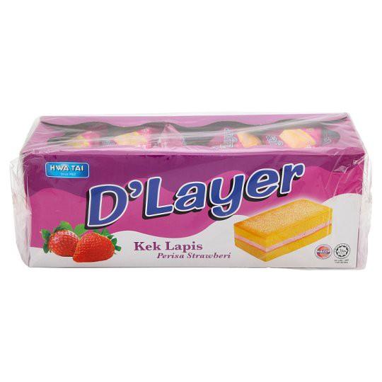 Hwa Tai D'Layer Strawberry Layer Cake 24 x 17g