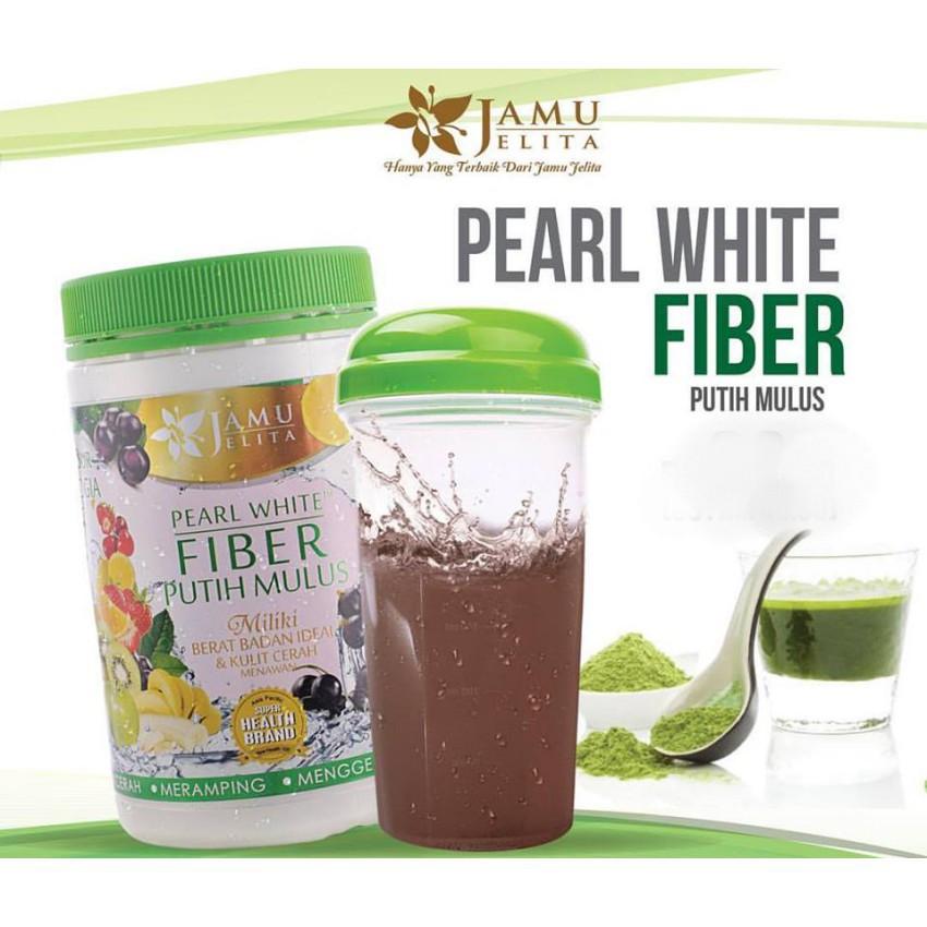 JAMU JELITA PEARL WHITE FIBER 400GM 100% ORIGINAL HQ + FREEGIFT