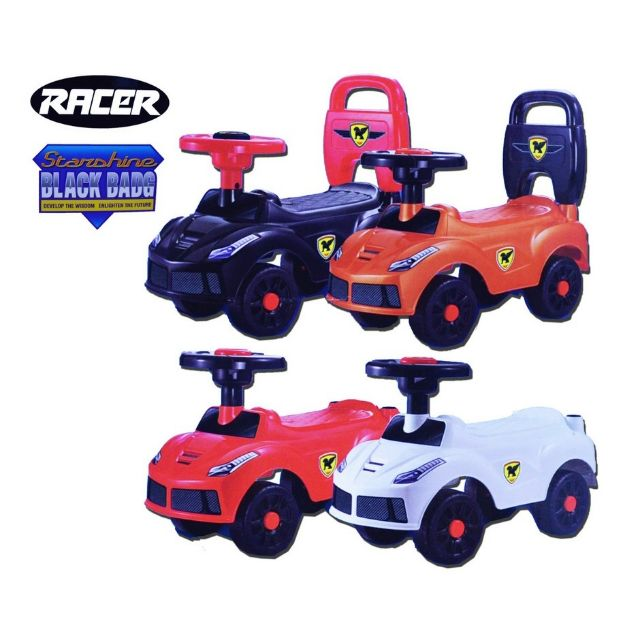 RACER Kids Push Car Toys With Non Slip Handle,
