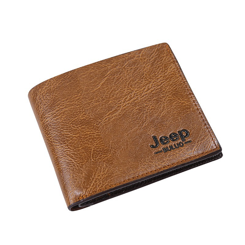 Jeep Men s Gifts Wind PU Leather Wallet Classic Short Percent Card ... a207d1d67d