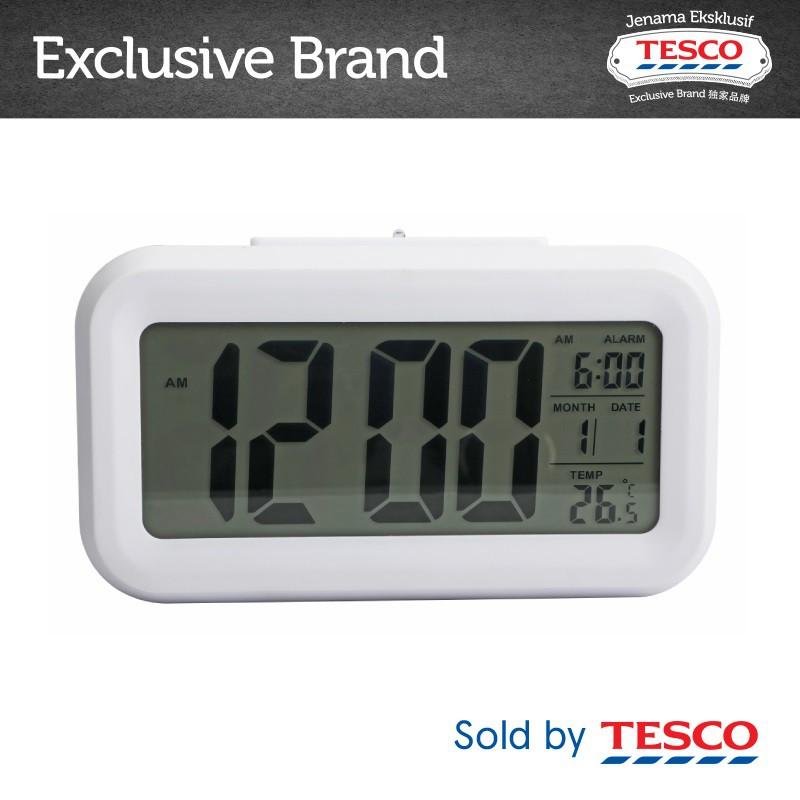 Tesco Digital Alarm Clock White