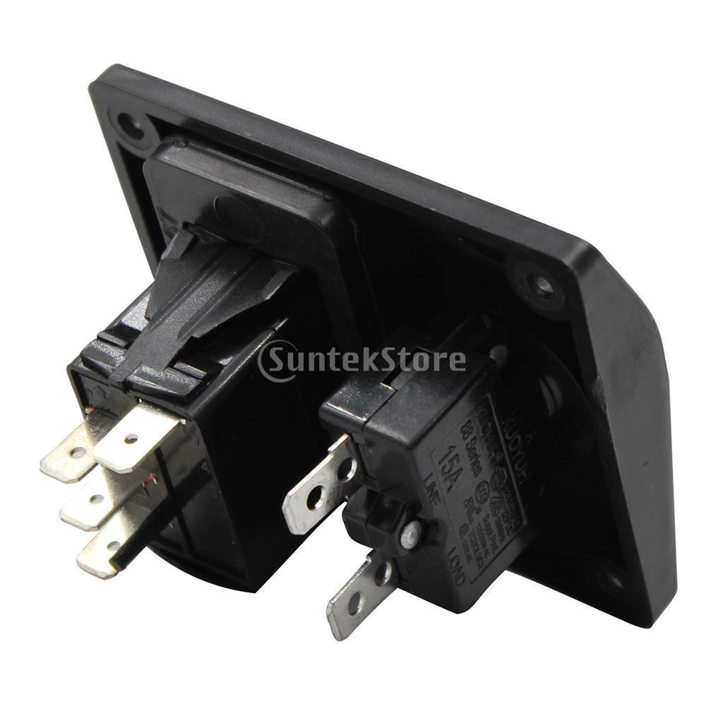 SEAFLO 3-Way Bilge Pump Switch Panel Automatic-Off-Manual 12v 24v w// Fuse Holder