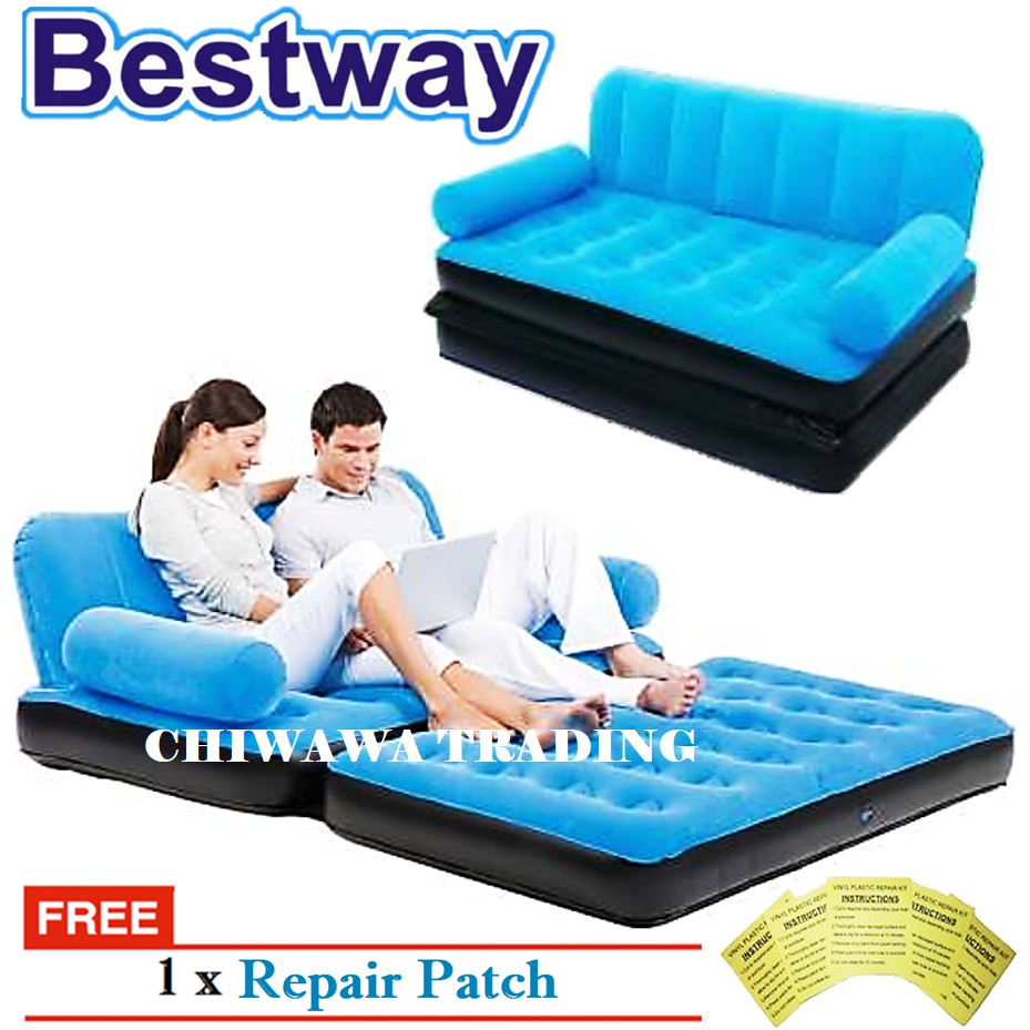 PROMOTION 67356  BESTWAY 2IN1 Inflatable Air Mattress Sofa Seat Chair + Bed Lounge