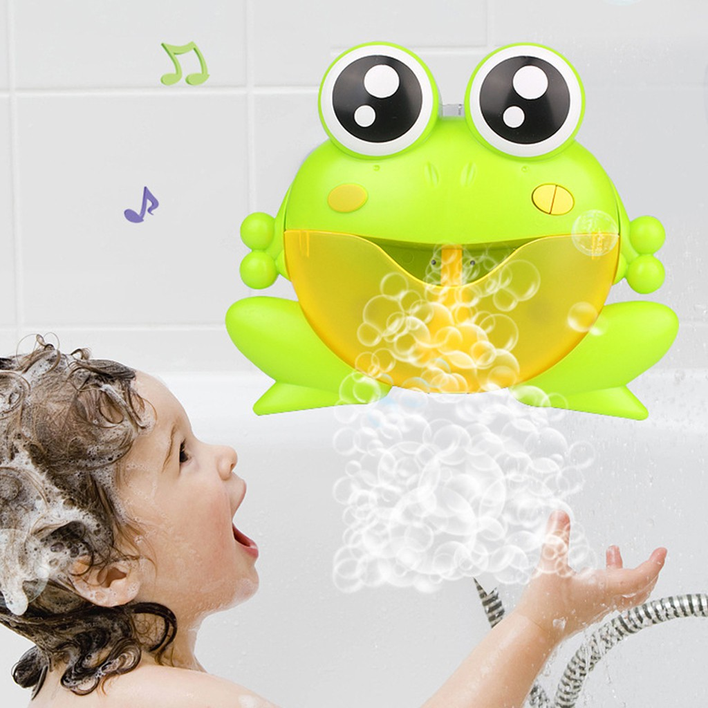 Bubble Machine Automatic With Music Water Bath Toy Kids Gift Baby Bath Big Frog