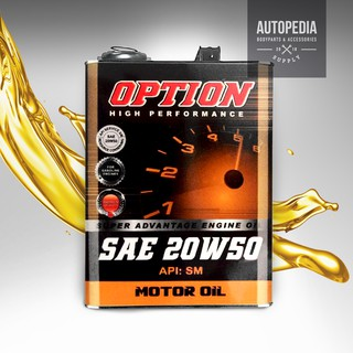 AUTOPEDIA Option High Performance Motor Oil - SM SAE 20W50 (4L)