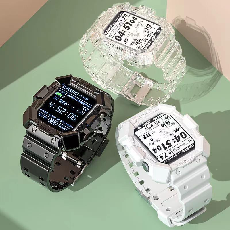 Smartwatch Clear Band Case for Series 6 38mm/40mm 42mm/44mm Transparent