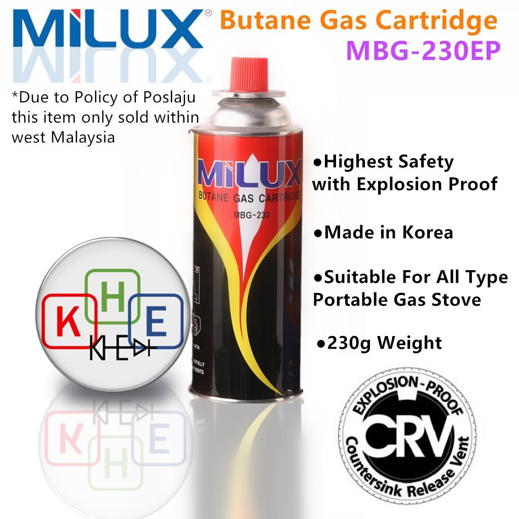 Milux Butane Gas Cartridge v CRV Explosion-Proof MBG-230EP