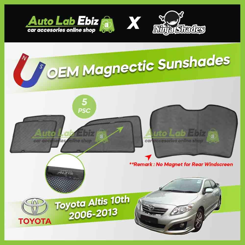 Toyota Altis 2006-2013 10th Gen Ninja Shades OEM Magnetic Sunshade (5pcs)