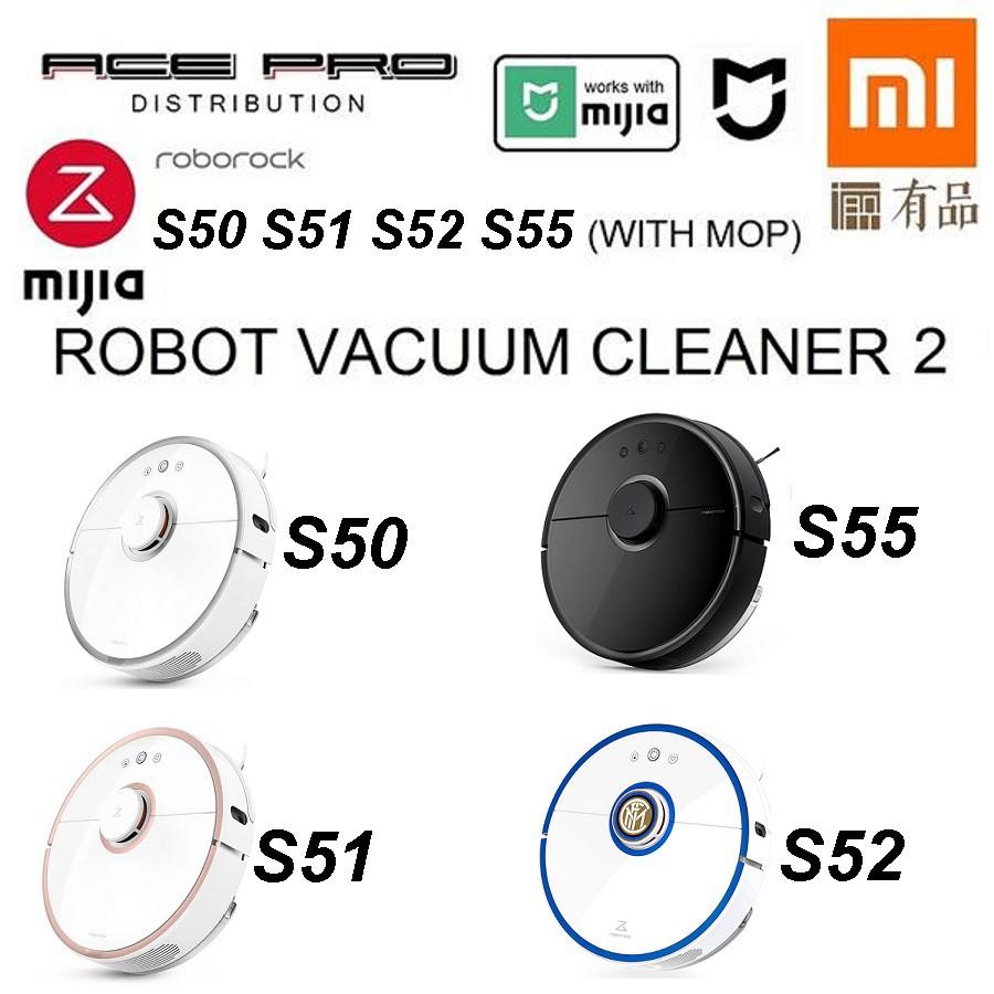XIAOMI Roborock Black S55 S50 S51 - Mi Mijia Robot Vacuum 2nd Gen Sweep &  Mop