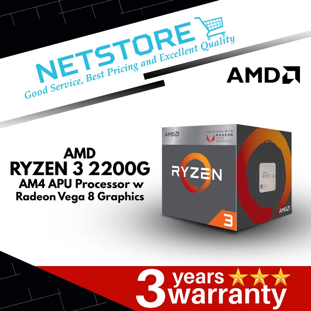 Amd Ryzen 3 2200g Processor With Radeon Vega 8 Graphics Cpus Processors