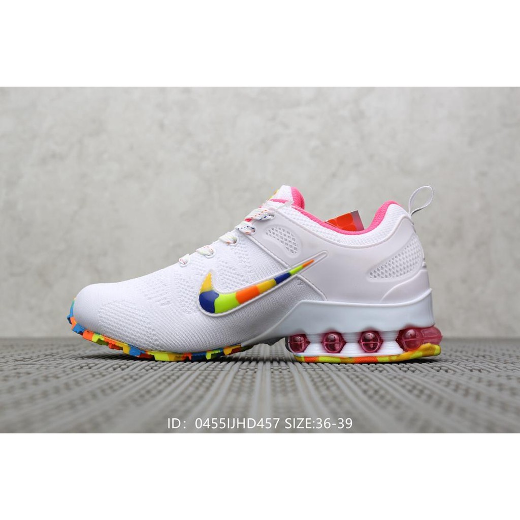 new styles 6e5fe a70b7 Original Nike Air Vapormax Flyknit Women's Running Shoes-White Colorful
