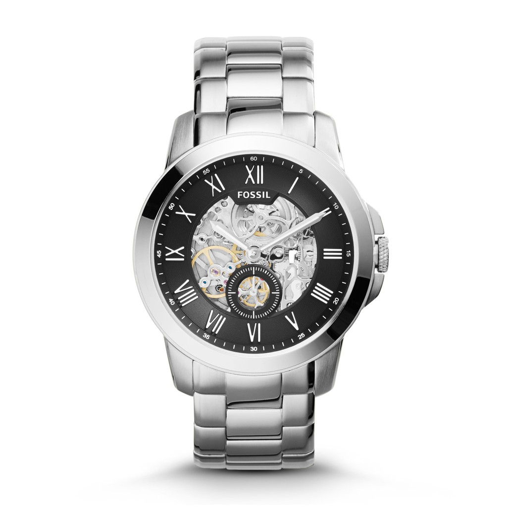Fossil Original Modern Machine Automatic Black Stainless Steel Watch Jam Tangan Fs4812 Grant Chronograph Dial Leather Mens Me3080 Shopee Malaysia