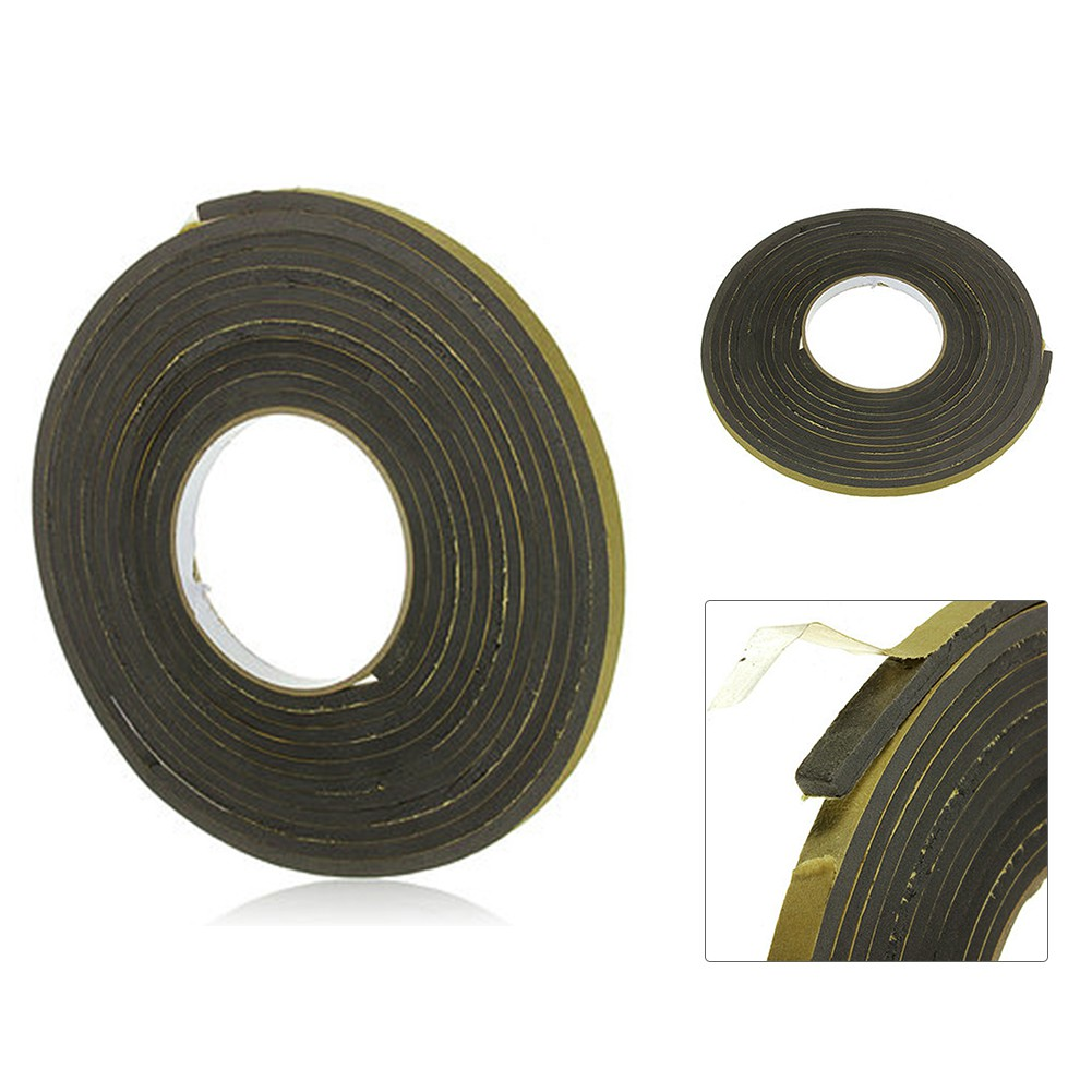 Black Single Sided Self Adhesive Foam Tape Draught Excluder Door Window Car