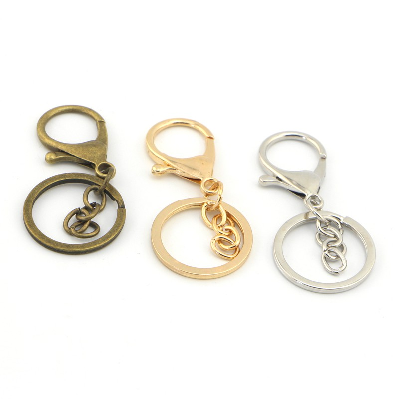12 pieces Assorted Colors Carabiner Black Strap Keyring Key Chain Ring Lots