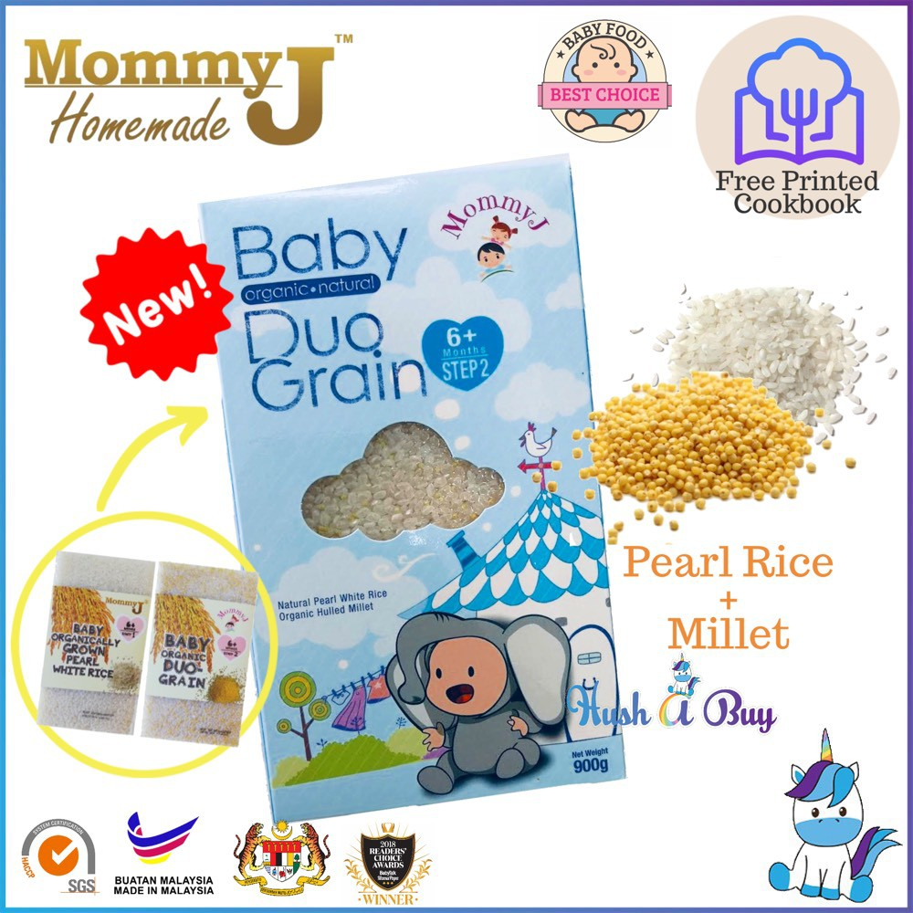 MommyJ Mommy J Rice Grown DUO-Grain (Rice & Millet) 900g 6m+ FREE PRINTED COOKBOOK EXP:DEC/2020