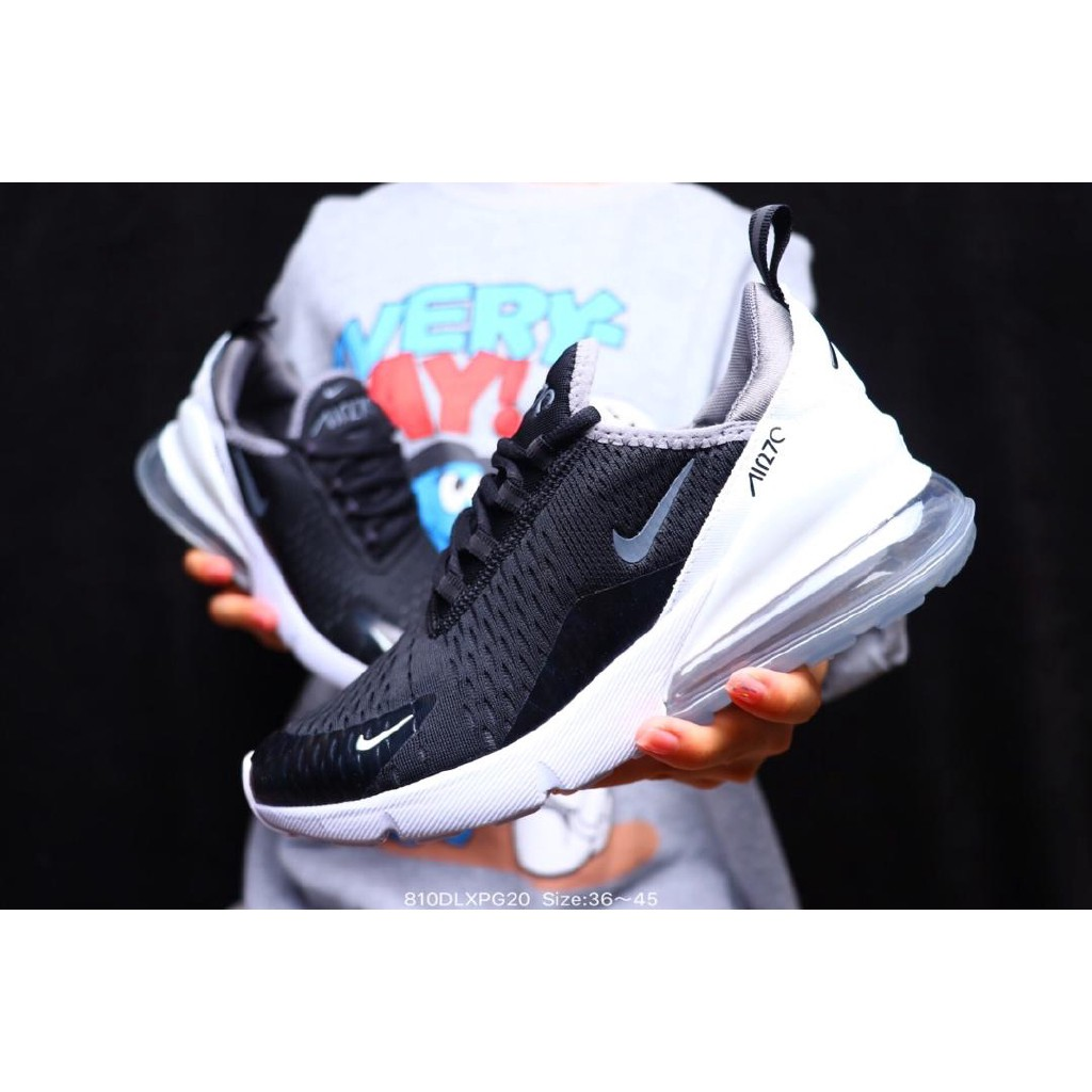 free shipping the latest affordable price NIKE AIR MAX 270 FLYKNIT FOR MEN and women RUNNING SHOES 36-44 black/white