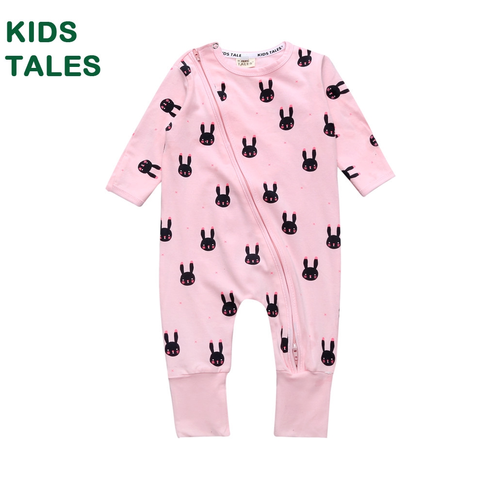 Baby Girls/' Fox Long Sleeve Romper Pajama Pink Cotton Jumpsuit 12-18 Months