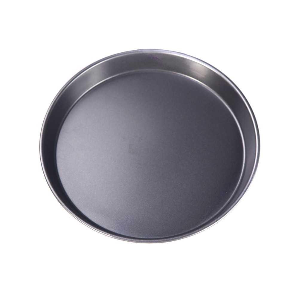 Pan Pizza Cake Bake Mould Mold Bakeware 8in Round Shape Dishwasher Safe Versatile Sturdy (dark grey)