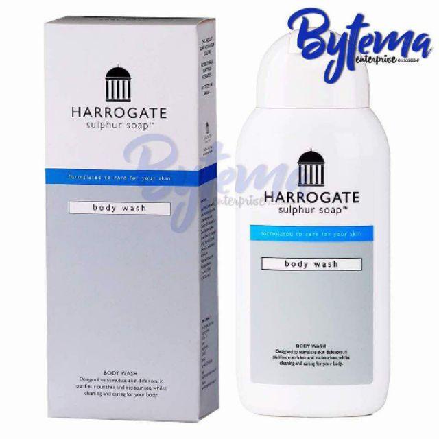 [2 FREE GIFTS] Harrogate Sulphur Body Wash for Eczema, Psoriasis, Acne