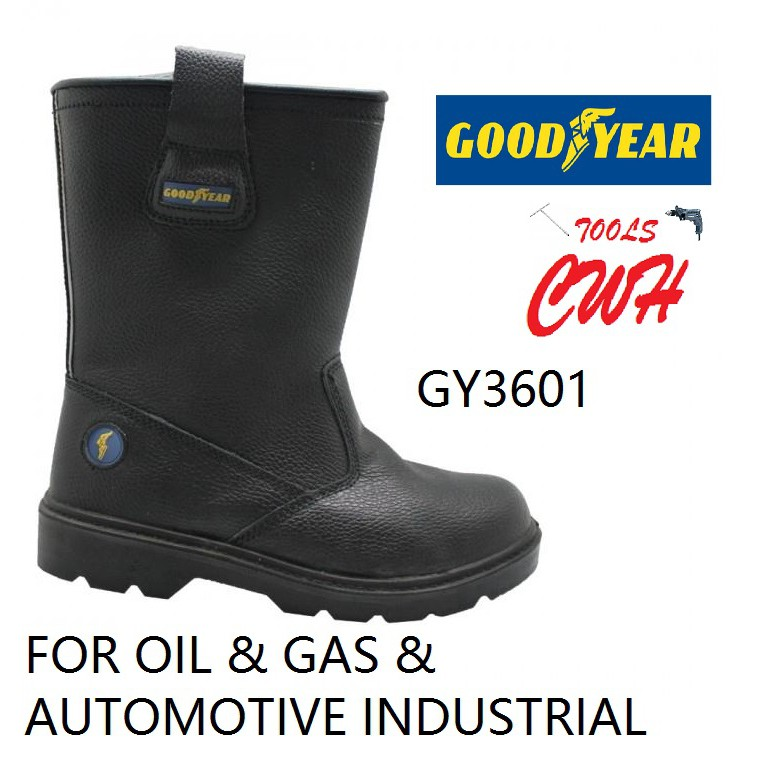 GOODYEAR EAGLE RIG GY3601 SAFETY SHOE SHOES BOOT BOOTS FOOTWARE CWH TOOLS BLACK HARDWARE BLACKHOME