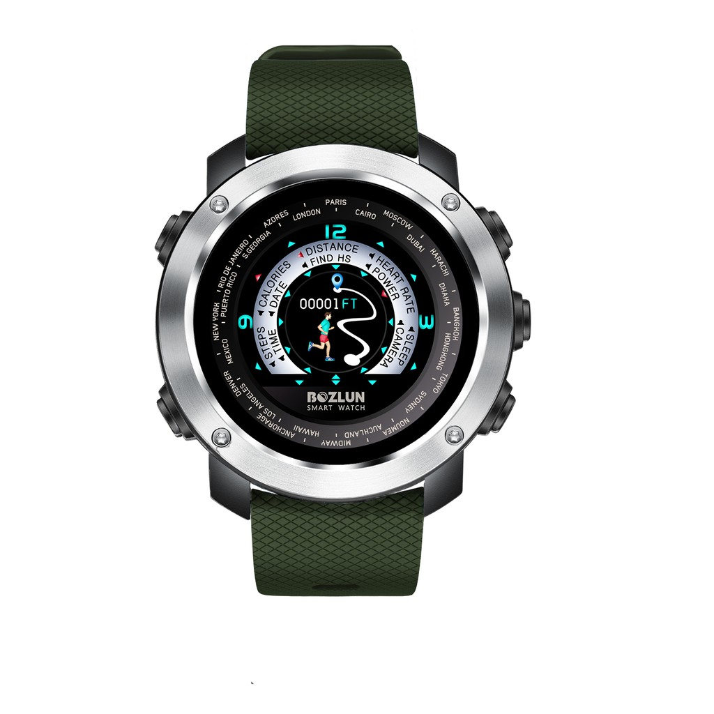 [LOCAL SELLER] Bozlun W30 Steel Silver Ring Color Screen Health Rate Pedometer Sport Watch