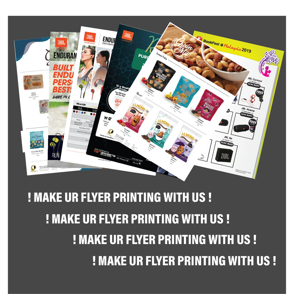 Flyer artpaper A4 4colour Printing