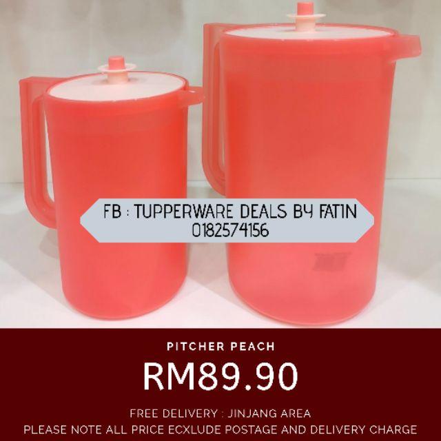 Pitcher Jug Tupperware Peach