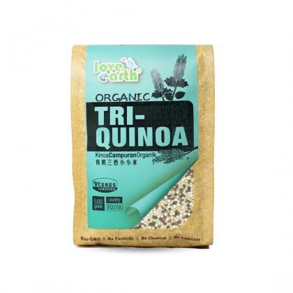 Love Earth Organic Tri-Quinoa 500g 乐儿有机三色藜麦 500公克 (袋装)