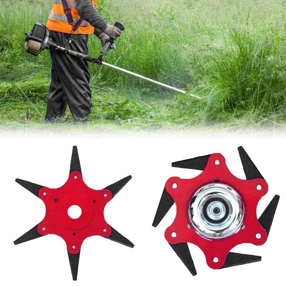 6 Steel Blades Razors 65Mn Lawn Mower Grass Eater Trimmer Head BrushTool