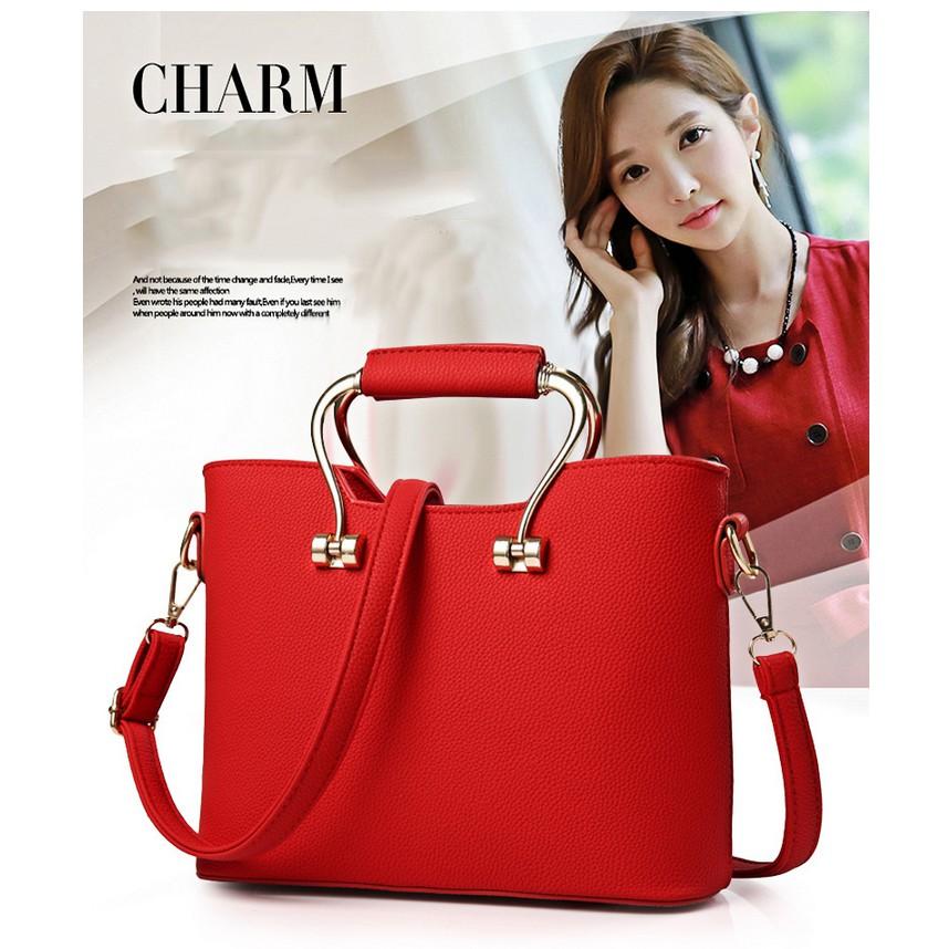 Women Pu Leather Elegant Handbags Trend Beg Casual