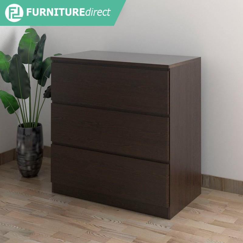 Furniture Direct AISHA 3 drawer chest- white