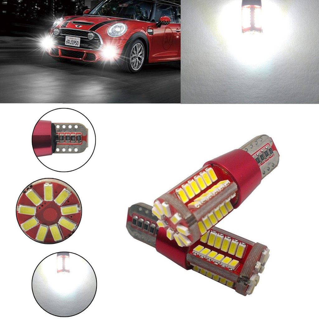 2X T10 W5W 501 LED CANBUS 57 SMD CREE BRIGHT WHITE CAR INTERIOR SIDE LIGHT BULBS