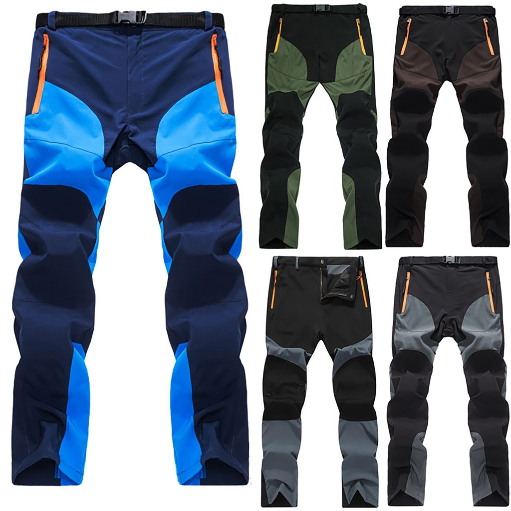 Windproof Men/'s Hiking Trousers Outdoor Quick Drying Climbing Cargo Work Pants