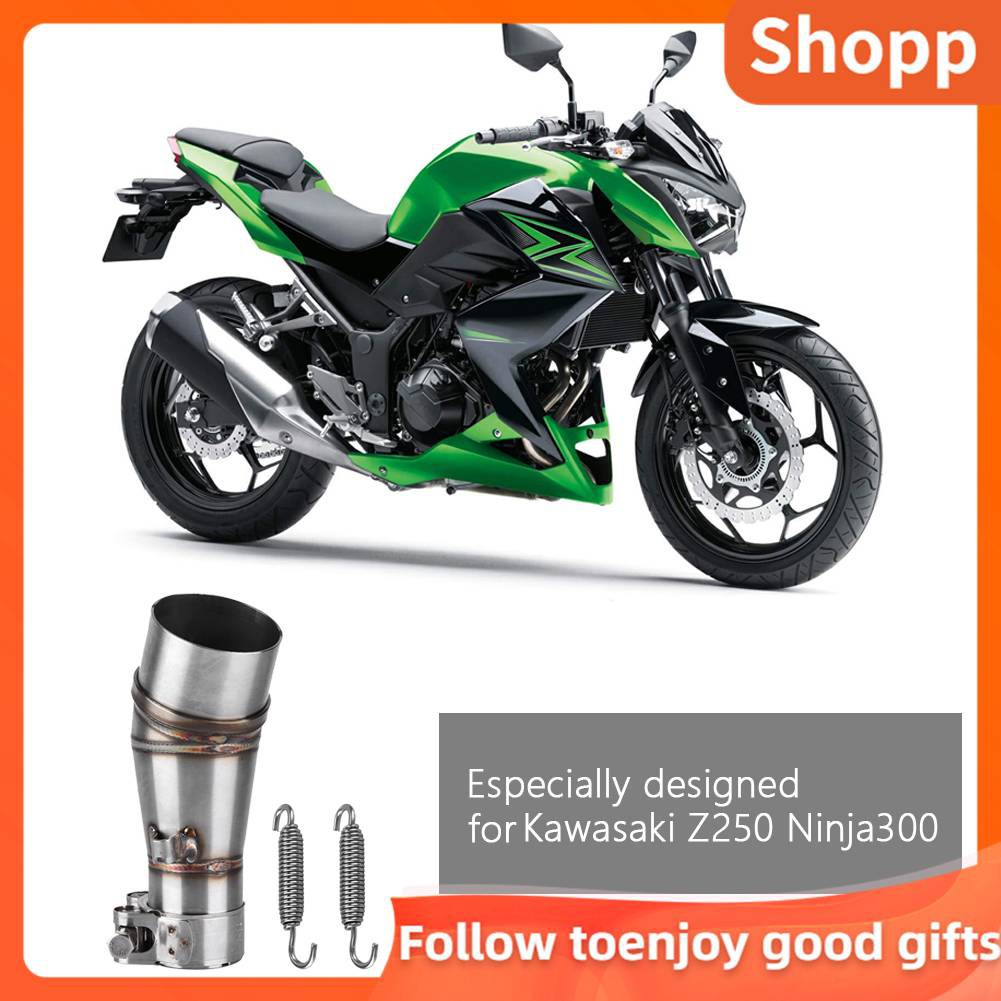 Stainless Steel Exhaust Vent Middle Mid Link Pipe Link Connect Pipe fit for CBR500R CB500X CBR400R CB400X Motorcycle Exhaust Pipe Middle Link Pipe