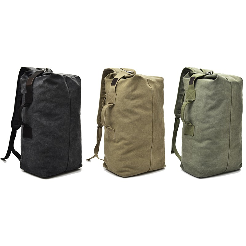 Premium Canvas Backpack Pack Multifunction Military Duffle Bag Travel Luggage Shopee Malaysia