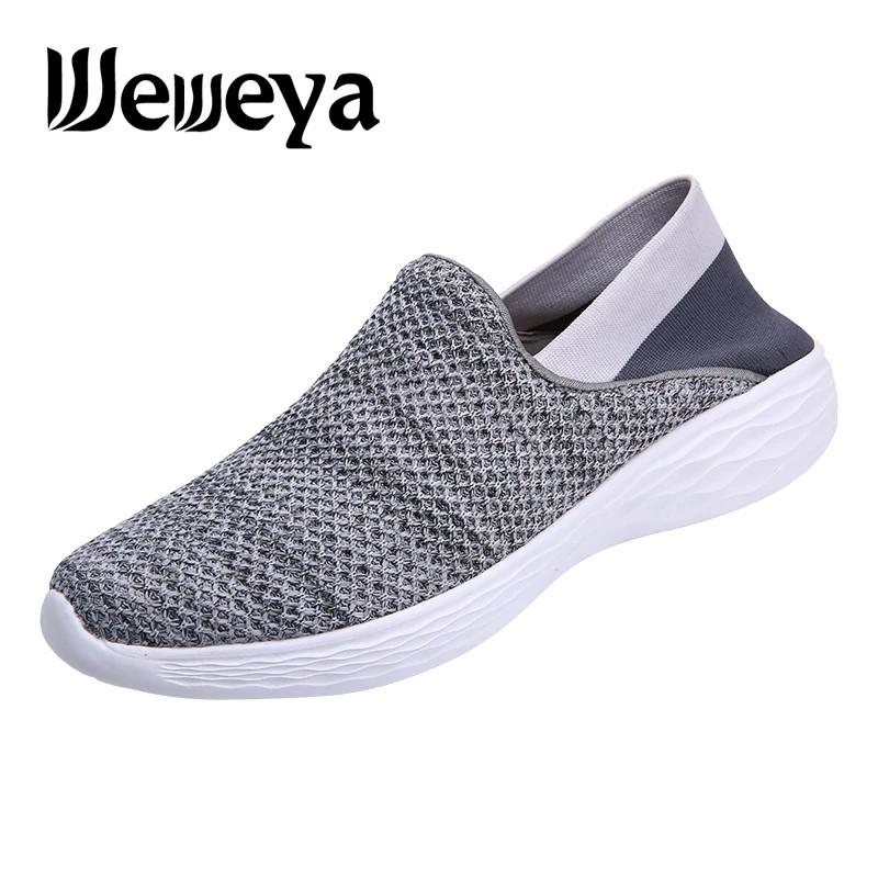 e8a9e8fab3 Weweya 2019 Summer Sneakers Male Breathable Sports Shoes Light Women Socks  Shoes for Walking Jogging Lightweight Unisex