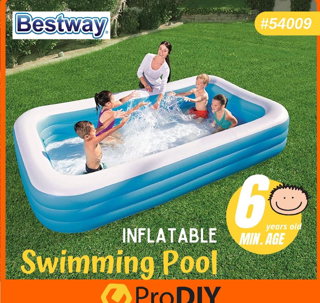 BESTWAY Pool 54009 Inflatable Swimming Pool Playing Water Kids Kolam Mandi Renang Kanak- Kanak