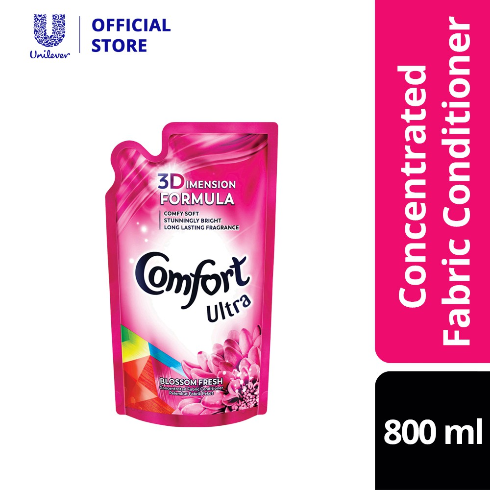 Comfort Concentrate Fabric Softener Blossom Fresh Refill Pack 800ml