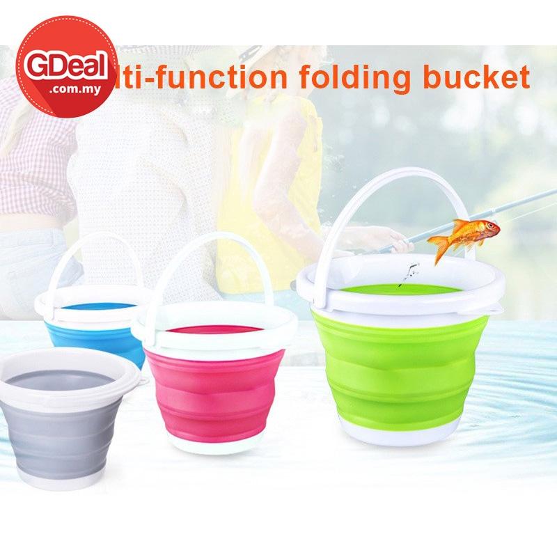GDeal Collapsible 5L Portable Home Round Folding Bucket Baldi Mudah Alih بلد موده اليه
