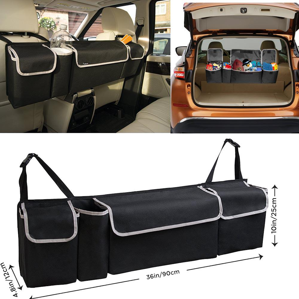 Cargo Box For Suv >> Trunk Organizer Foldable Auto Car Storage Bag Collapsible