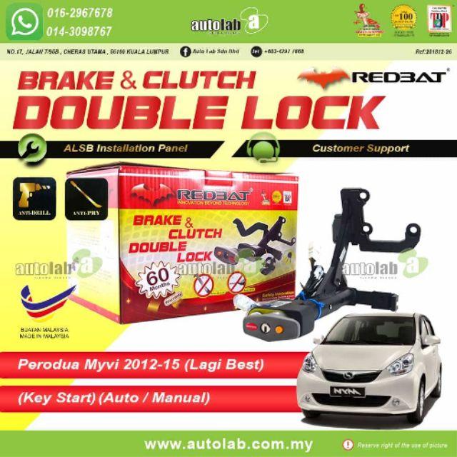 Redbat Double Lock Perodua Myvi Lagi Best 2012-2015 (key start ) ( auto/manual )
