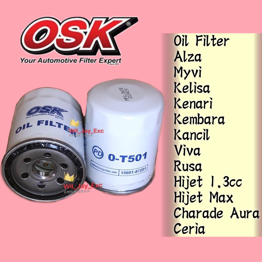 OSK PERODUA OIL FILTER O-T501 ALZA ,KELISA, KENARI