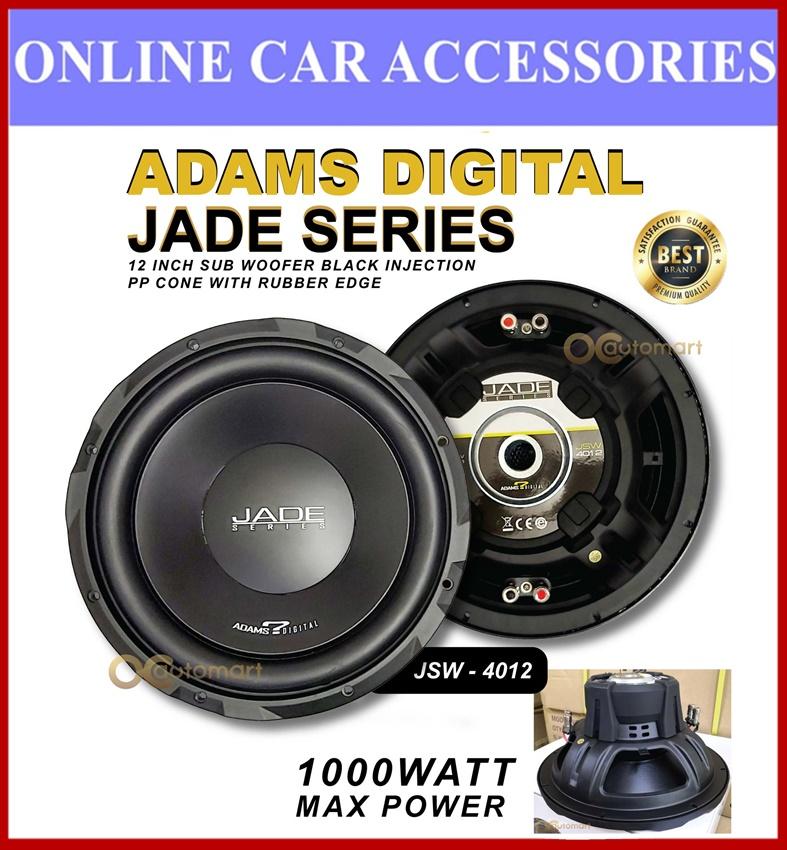 Adams Digital 12 Inch Subwoofer Jade Series JSW 4012 1000W Max