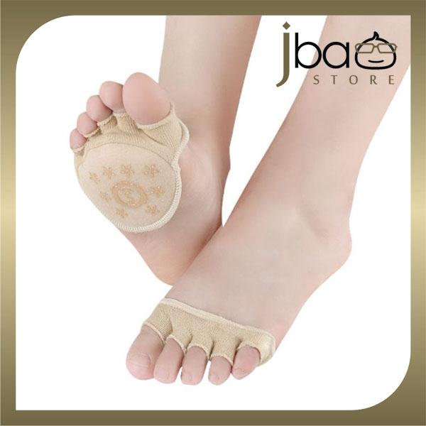 Women Metatarsal Forefoot pad Peep-Toe Pumps Heels Invisible Socks