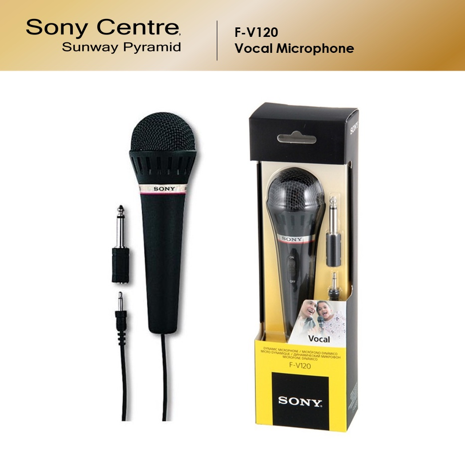 Sony F-V120 Uni-Directional Handheld Mic Vocal Microphone with Built-In On/Off Switch