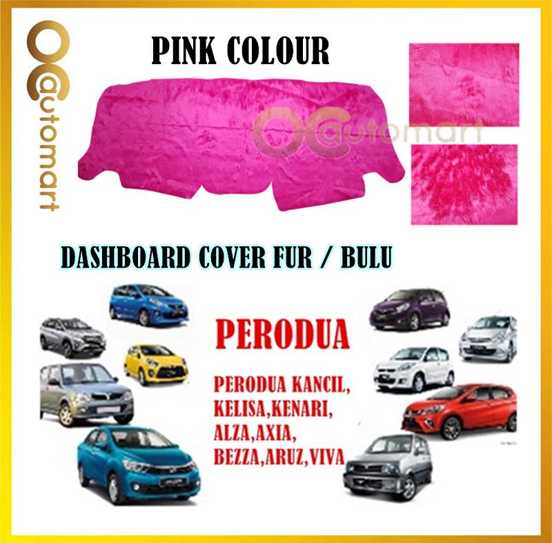 Customized Dashboard Cover Fur / Bulu (Pink Colour) For Perodua Car Model (Myvi,Kelisa,Kancil,Kenari,Axia,Alza,Aruz,Etc)